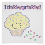 tinkle sprinkles funny cupcake posters