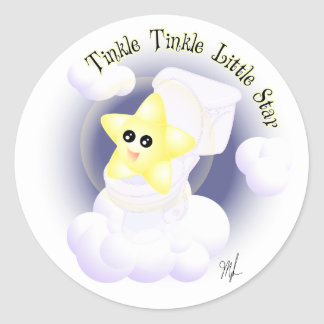Tinkle Tinkle Little Star Round Sticker