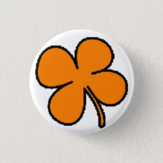 Tink's Orange Clover Collection Button