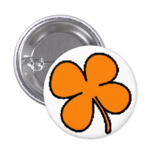 Tink's Orange Clover Collection Button