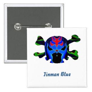 TINMAN BLUE Icon : Amusing Funny Cartoon Button