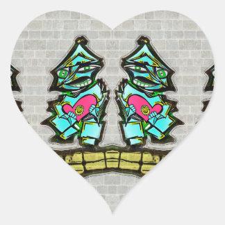 Tinman Pegatina En Forma De Corazón