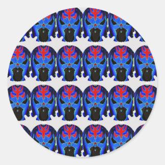 TINMAN Tin Man BLUE Ghost Hallloween SKULL Scary Classic Round Sticker
