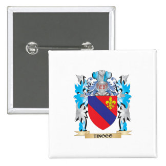 Tinoco Coat of Arms - Family Crest Pinback Buttons