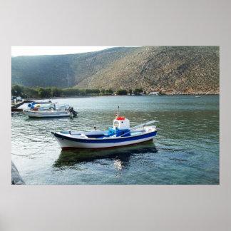 Tinos Island Boat poster Greece