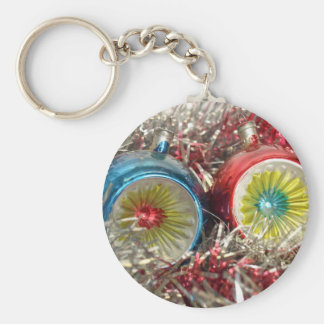 Tinsel Baubles For Christmas Tree Decoration Keychains