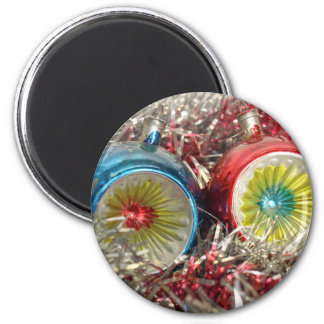 Tinsel Baubles For Christmas Tree Decoration Refrigerator Magnet