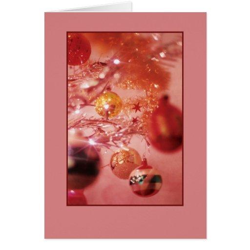 Tinsel Christmas Tree Card
