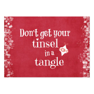 Tinsel in a Tangle Christmas Quote Business Card
