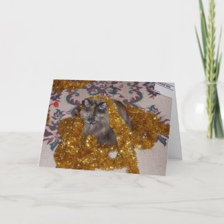 Tinsel Queen Greeting Card