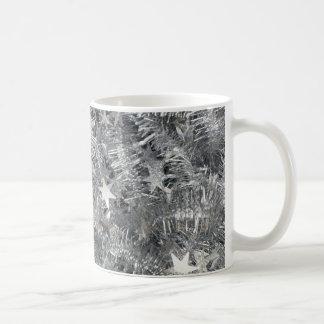 tinsel SILVER TINSEL decorations stars strings r Coffee Mug