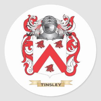 Tinsley Family Crest Coat of Arms Sticker