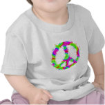 Tinta 2 del teñido anudado del símbolo de paz camiseta
