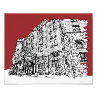 Tinta arquitectónica roja foto