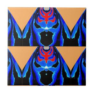 Tinta azul del MONSTRUO Dibujo animado del recort Azulejo Cerámica