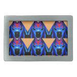 Tinta azul del MONSTRUO: Dibujo animado del recort Hebillas De Cinturón