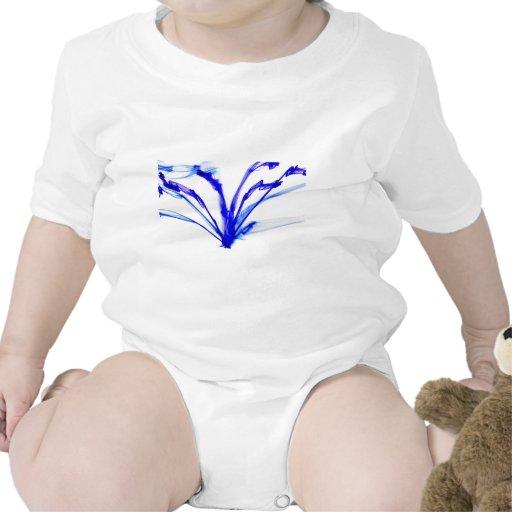 Tinta azul en diseño del agua trajes de bebé