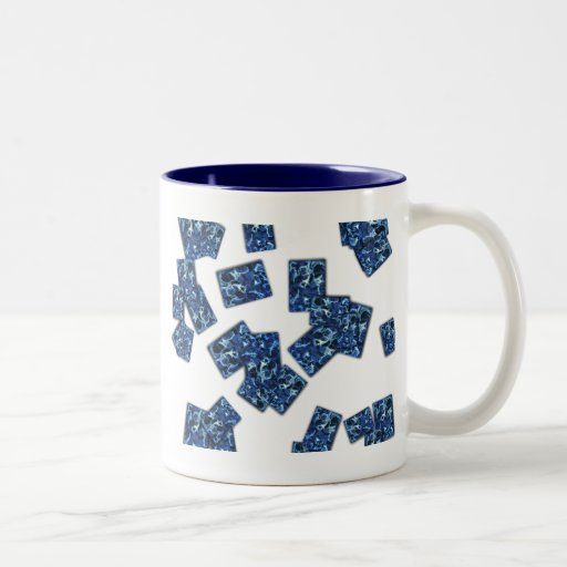 Tinta azul taza de café