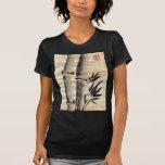 Tinta de bambú en arte del papiro camisetas