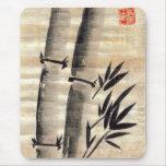Tinta de bambú en arte del papiro alfombrilla de ratón