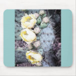 Tinta de Digitaces de la flor del cactus Tapetes De Ratón