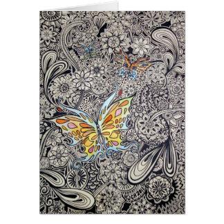 Tinta de la mariposa tarjeta de felicitación