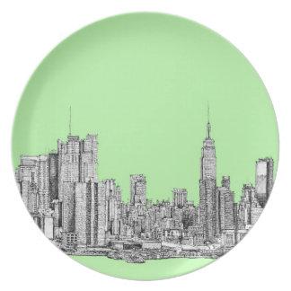 Tinta de Nueva York en verde lima Platos