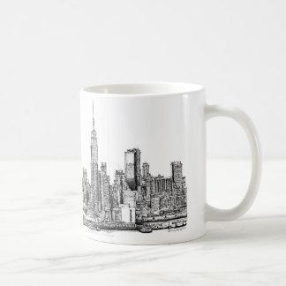 Tinta del horizonte de Nueva York Taza