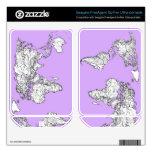 Tinta del mapa del mundo en rosa de la lila skins para FreeAgent GoFlex