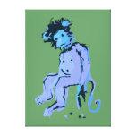 tinta del mono del emo impresion en lona