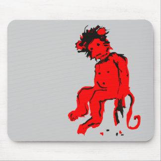 tinta del mono del emo tapetes de raton