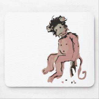 tinta del mono del emo tapete de ratón