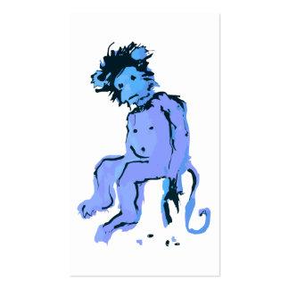 tinta del mono del emo tarjetas de negocios