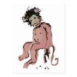 tinta del mono del emo tarjetas postales