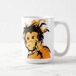 tinta del mono taza de café