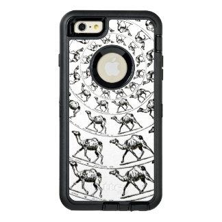 Tinta del negro del ejemplo del dibujo del camello funda otterbox para iPhone 6/6s plus