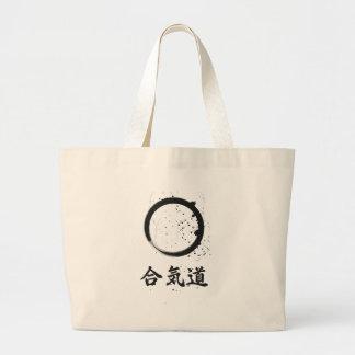 Tinta del zen del Aikido Bolsa Tela Grande