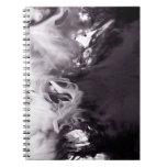 Tinta en la fotografía Ying Yang del agua inspirad Libro De Apuntes Con Espiral