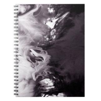 Tinta en la fotografía Ying Yang del agua inspirad Libros De Apuntes Con Espiral