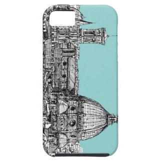 Tinta italiana azul clara iPhone 5 protector