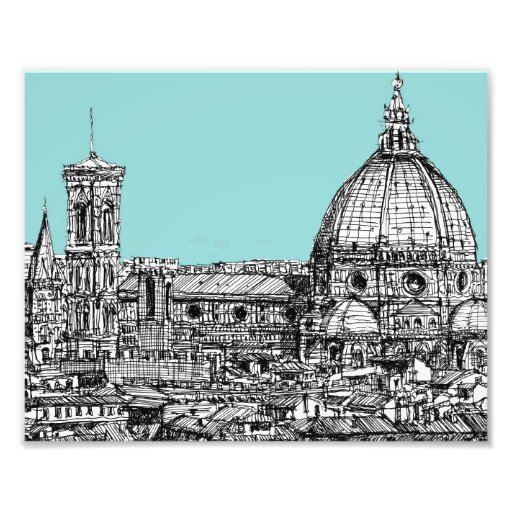 Tinta italiana azul clara impresiones fotográficas