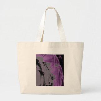 tinta japonesa estilizada bolsa tela grande