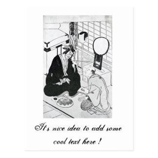 Tinta japonesa tradicional del arte oriental fresc postal