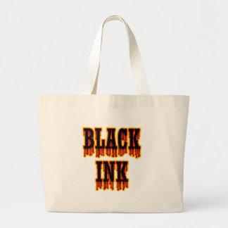 Tinta negra bolsa lienzo