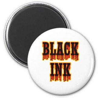 Tinta negra imán redondo 5 cm