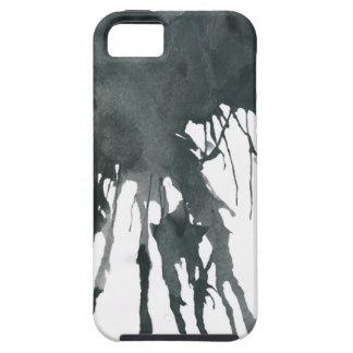Tinta negra iPhone 5 fundas