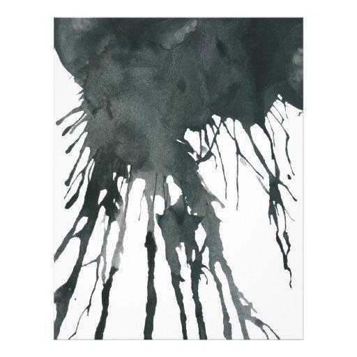 Tinta negra plantillas de membrete