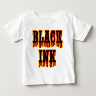 Tinta negra playera de bebé