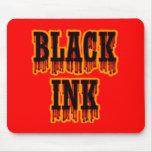Tinta negra tapete de ratón