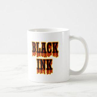 Tinta negra tazas